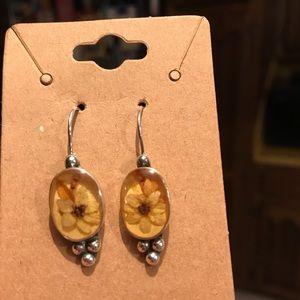 Floral Sterling Silver Earrings
